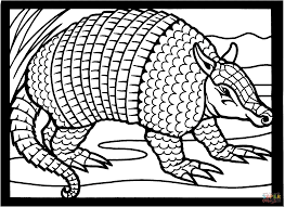 Small Picture Texas nine banded armadillo coloring page Free Printable