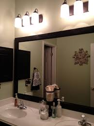 Small bathroom wall mirrors Round Wood Framed Bathroom Vanity Mirrors Attractive Bathroom Mirrors Wood Frame Mulestablenet Wood Framed Bathroom Vanity Mirrors Attractive Bathroom Mirrors Wood