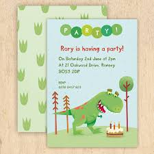 Dinosaur Birthday Invitation Personalised Dinosaur Party Invitations