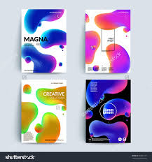 Fluid App Design Fluid Colors Backgrounds Set Fluid Shapes With Hipster
