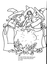 Witches Again Concocting Potions Coloring Pages