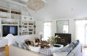 White Cabinet Decor Beach House Interior White Sofas Chairs Decor - White beach house interiors