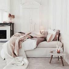 rose gold and white bedroom ideas | -