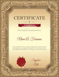 Certificate Recognition Certificate Of Recognition Template With Vintage Floral Frame