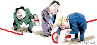Afbeeldingsresultaat voor who is the madman trump or kim cartoon