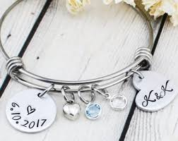 personalized wedding bracelet for women wedding gift for bride from maid of honor bride gift for bridal shower