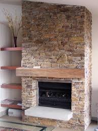 Decorations:Cool Rock Stone Fireplace Wall Idea Elegant Rock Fireplace  Design Idea