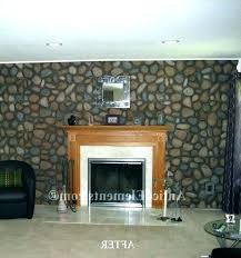 faux rock fireplace photo 5 of delightful river panels makeover old stone covering diy surround easy