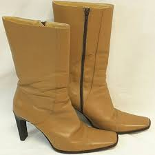 Charles David Square Toe Boots Size