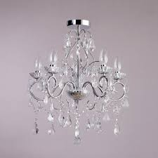 crystal effect glass bathroom chandeliers