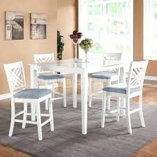white counter height table. White Round Counter Height Table Dining Sets Wonderful 5 Piece Kitchen