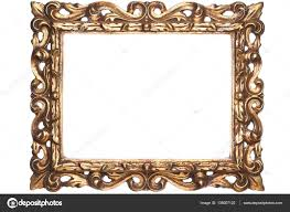 old antique gold wooden frame stock photo