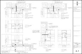 curtain wall and front detail sheets