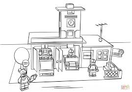 Small Picture Lego Fire Station coloring page Free Printable Coloring Pages