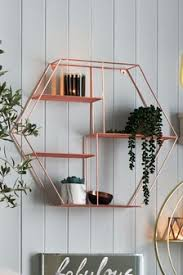 Decorative wall shelving Living Room Rose Gold Hexagon Shelf Next Uk Decorative Shelves Decorative Wall Shelf Next Uk
