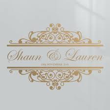 Wedding Card Name Sticker Design Details About Premium Custom Name Date Wedding Dance Floor Event Decor Sticker Vinyl Decal