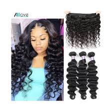 Hair Length Chart Bundles Allove Loose Deep Wave Bundles Peruvian Hair Bundles Human