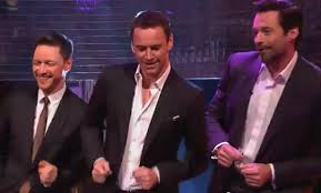 watch x men days of future past actors dance to robin thicke s watch michael fassbender hugh jackman and james mcavoy dance to blurred lines while in london to promote the upcoming x men days of future past