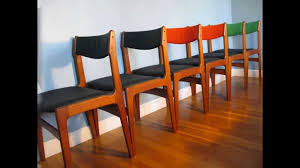 found midcentury modern danish teak dining chairs
