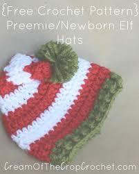 Elf Hat Pattern Inspiration Preemie Newborn Elf Hat Crochet Pattern Cream Of The Crop Crochet