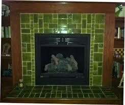 painting ceramic tile fireplace surround