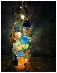 Bottle Light Ideas Beautiful Glass Stones Lighted Bottle Easy Awesome