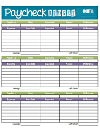 Weekly Budget Forms Livin Paycheck To Paycheck Free Printable Budget Form Create