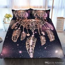 eye dreamcatcher bedding set luxury golden bed cover soft polyester bedclothes duvet cover single twin queen king size new king size duvet set grey and
