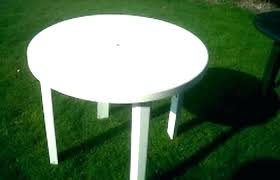 round plastic outdoor tables plastic outdoor table with umbrella hole modern patio and furniture medium size