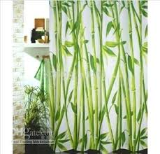 bamboo shower curtain forest waterproof bathroom free by from spring china rail bamboo shower curtain