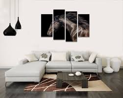 customized animal photo canvas art print dark horse canvas painting multi pieces home wall decor in painting calligraphy from home garden on  on custom multi canvas wall art with customized animal photo canvas art print dark horse canvas painting