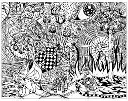Small Picture Psychedelic patterns hidden cat Psychedelic Coloring pages for