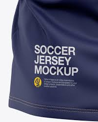 The team's colors, its logo, and the number of. Men S V Neck Soccer Jersey T Shirt Mockup Back View Football Jersey T Shirt In Apparel Mockups On Yellow Images Object Mockups