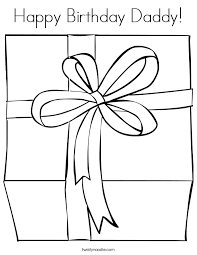 Small Picture Happy Birthday Daddy Coloring Page Twisty Noodle