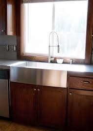 install farmhouse sink existing counter. Apron Front Sink Installed Flush With Concrete Counters Install Farmhouse Existing Counter
