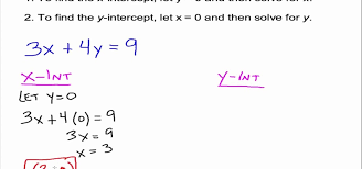 how to use and find x y intercepts in algebra