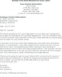 front desk agent cover letter hotel front desk resume reception
