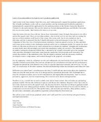 Letter Of Recommendation Nursing Graduate School Sample Erpjewels Com