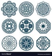 Traditional Symbols Traditional Korean Symbols Korea Pattern Vector Image