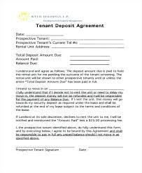 Deposit Templates Deposit Agreement Template