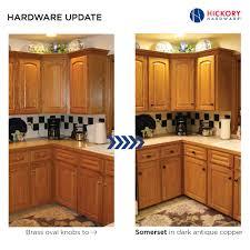 Antique Kitchen Cabinet Hardware Simple Kitchen Cabinet Hardware Update Brass Oval Knobs To