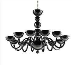 modern hand blown murano glass chandelier collection with a distinct rounded design featuring a central stem formed of a series of stacked orbs of varying
