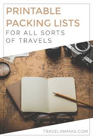 Packing List For Summer Vacation Packing Lists For Babies And Kids Printable Travel List