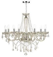 incredible glass chandelier regarding evangelina 8 arm champagne prepare 16