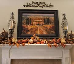 besides standard fall decorations you could also hang beautiful photos of this time of the year with how to decorate a mantel