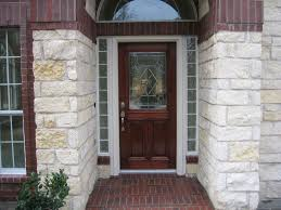 Glass Block Door Accent