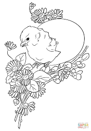 Small Picture Easter Chick coloring page Free Printable Coloring Pages