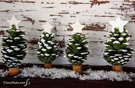 Pom Poms And Pinecones Christmas OrnamentsPine Cone Christmas Tree Craft Project