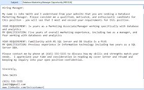 Cover Letter In Email Body Cover Letter Samples Cover Letter Samples