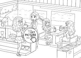 Small Picture Cafe Coloring Page For Kids Printable Free Lego Friends Within